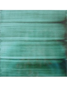 Azulejo pincelado verde tinta pasaje 15x15
