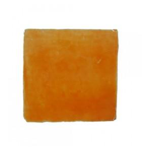Faïence orange cristalline