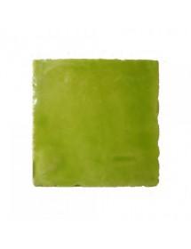 Faïence vert pistache cristalline