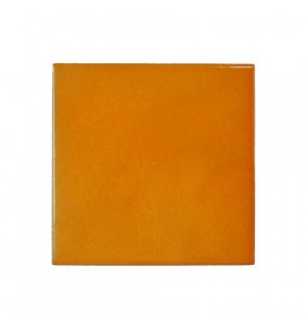 Faïence orange artisan