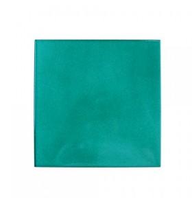 Azulejo artesano verde tinta