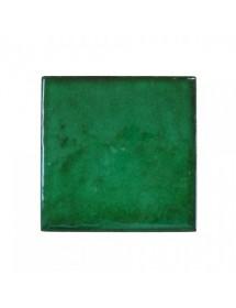 Azulejo artesano verde tinta pasaje