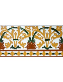 Azulejo Sevillano relieve MZ-042-01
