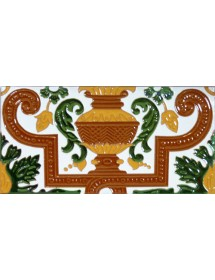 Sevillian relief tile MZ-053-01B