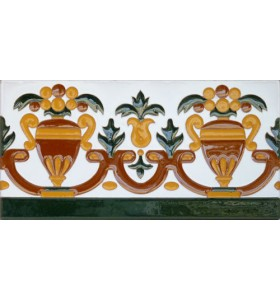 Azulejo Sevillano relieve MZ-027-01