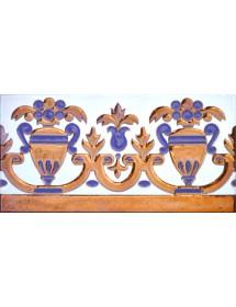 Sevillian relief copper tile MZ-027-941