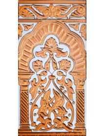Sevillian relief copper tile MZ-030-91