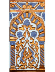 Sevillian relief copper tile MZ-030-941