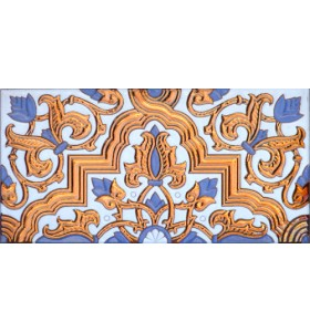 Sevillian relief copper tile MZ-032-941