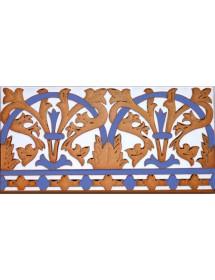 Sevillian relief copper tile MZ-042-941