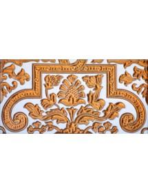 Sevillian relief copper tile MZ-053-91A