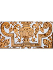 Sevillian relief copper tile MZ-053-91B