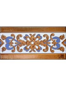 Sevillian relief copper tile MZ-033-941