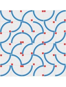 Mosaïque ARCOIRIS bleu/rouge