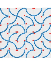 Motivo ARCOIRIS azul/rojo