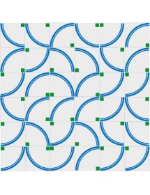 Mosaïque ARCOIRIS bleu/vert
