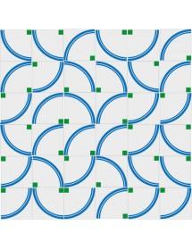 Motivo ARCOIRIS azul/verde