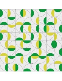 Motivo CEREZAS verde/amarillo