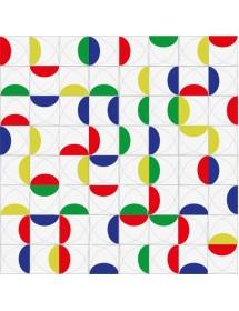 Komposition CEREZAS 2 linien mehrfarbig
