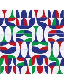 Komposition COPAS mehrfarbig