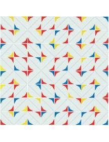 Motivo ESTRELLA rojo/amarillo/azul