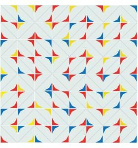 Mosaïque ESTRELLA rouge/jaune/blue