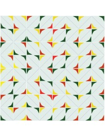 Mosaïque ESTRELLA rouge/jaune/vert