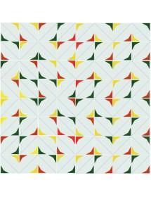 Motivo ESTRELLA rojo/amarillo/verde