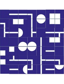 Komposition LABERINTO blau