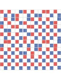 Komposition RAYADO blau/rot