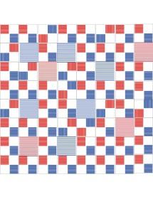 Komposition RAYADO2 blau/rot