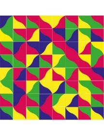Komposition RIO mehrfarbig
