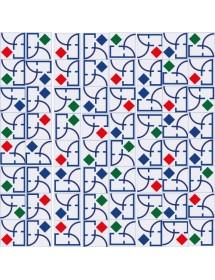 Motivo VIDRIERA multicolor