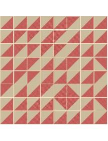 Composition CARTABON RAYAS red/beige