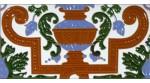 Azulejo Sevillano relieve MZ-053-00B