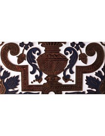 Sevillian relief copper tile MZ-053-941B