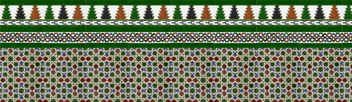 Arabischen farbigen mosaiken