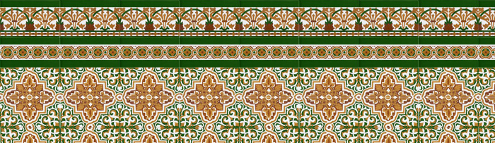 Sevillianischen farbigen mosaiken