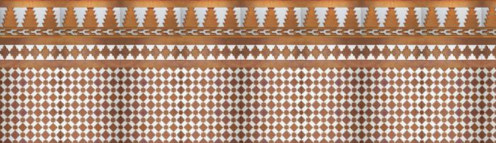 Arabian copper mosaics