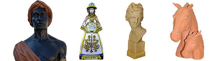 Bustos, figuras y columnas